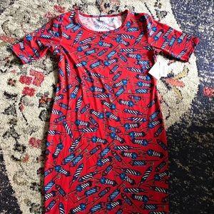 4th of July Julia dress size XL lularoe